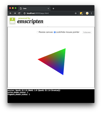 Compiling a C++ OpenGL Project for OS X and WebAssembly